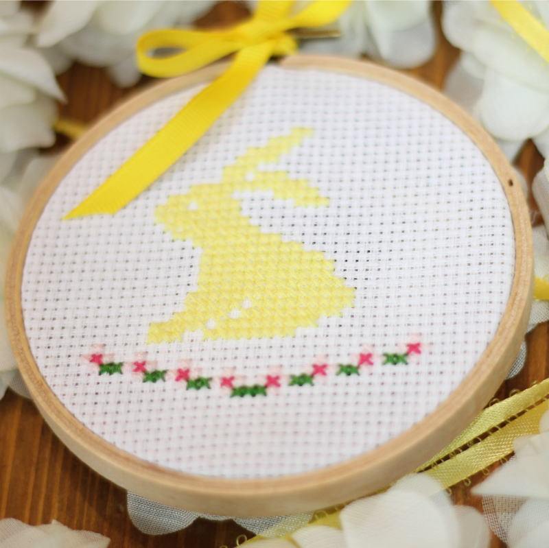 bunny cross stitch pattern free