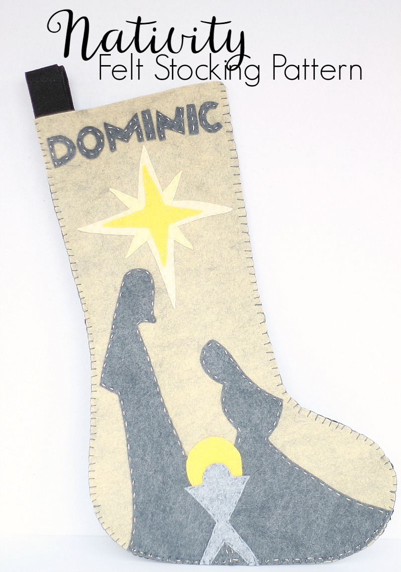 Nativity felt stocking pattern