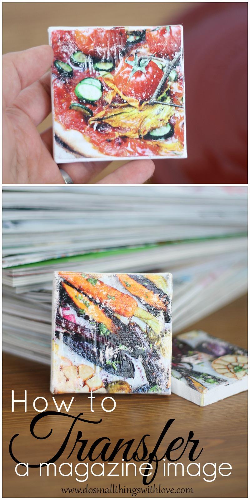 how to transfer a magazine image