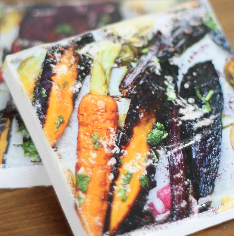 how to transfer images from magazines onto canvases