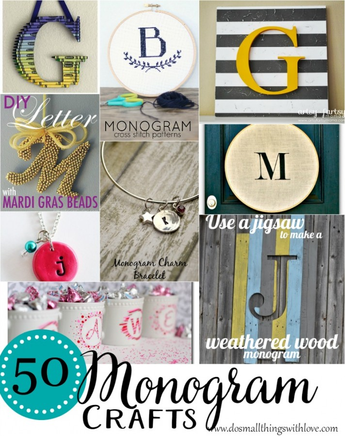 50 Monogram crafts