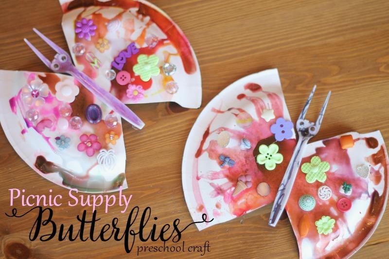picnic supply butterflies