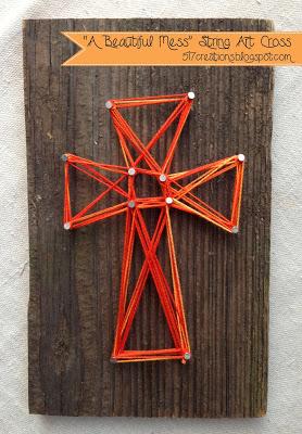 string art cross