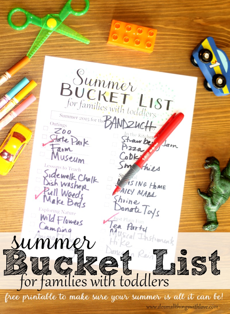 summer bucket list printable to make sure your summer is all it can be!