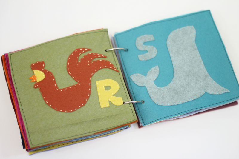 animal abc felt quiet book pattern rs