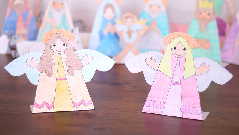 printable angels nativity