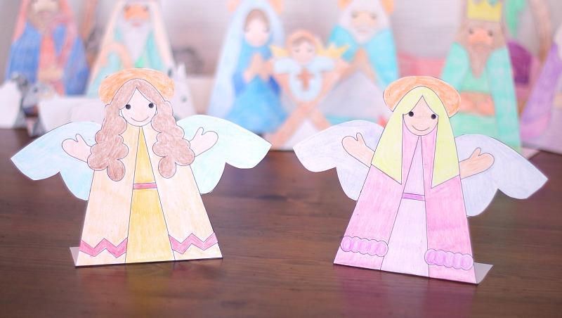 printable angels nativity