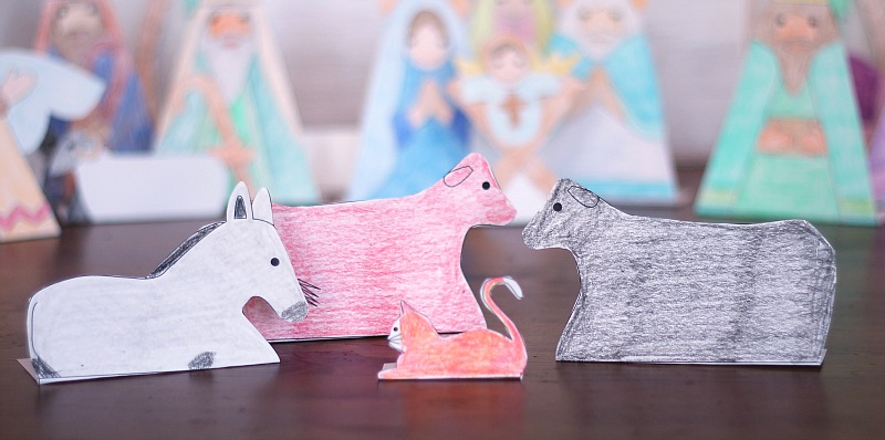 printable animals nativity