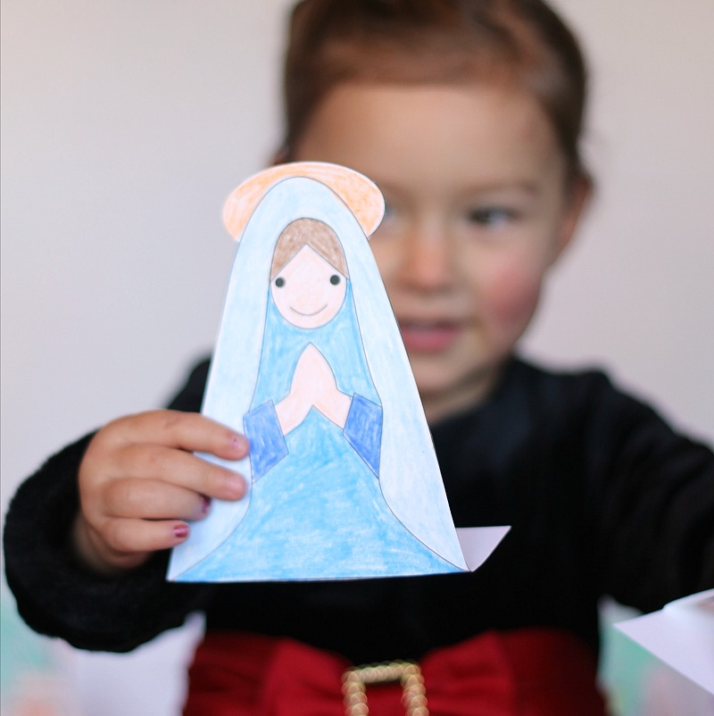 printable nativity with Bernadette