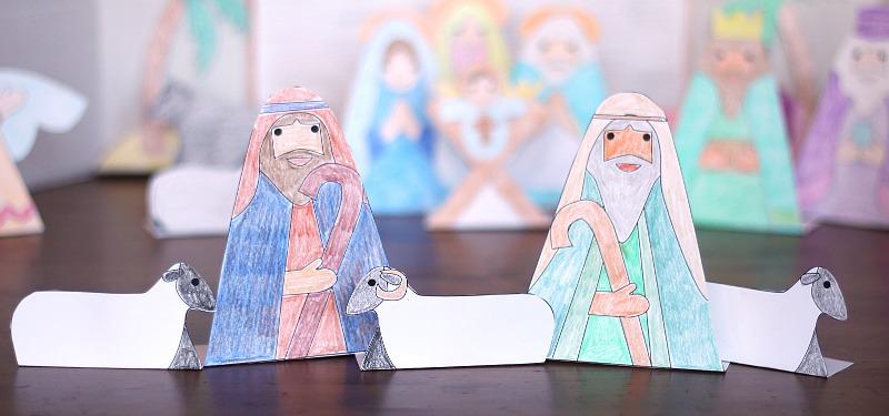 printable shepherd nativity
