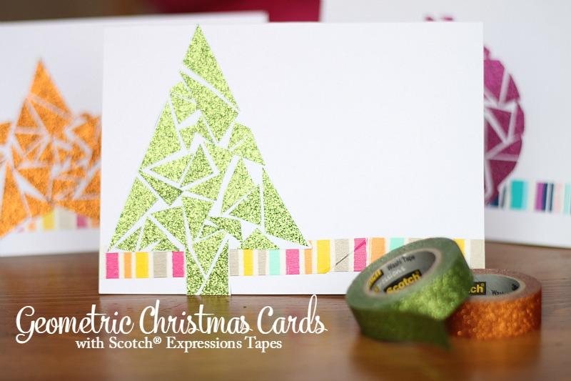 Geometric Christmas Cards tutorial