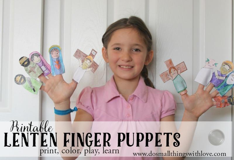 Finger Puppets for Lent