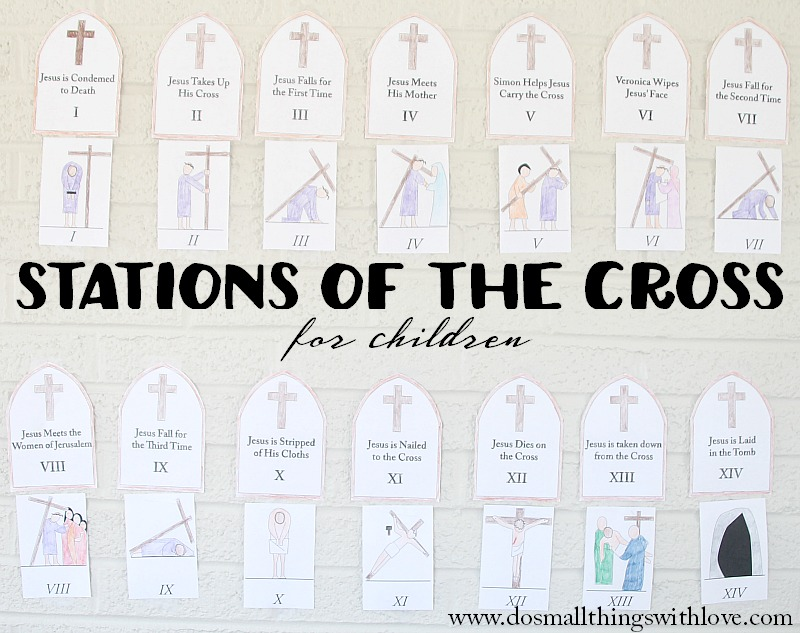 It is a picture of Fan Printable Stations of the Cross Catholic