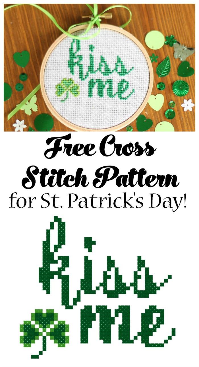 Free Cross Stitch Pattern for Saint Patrick's Day