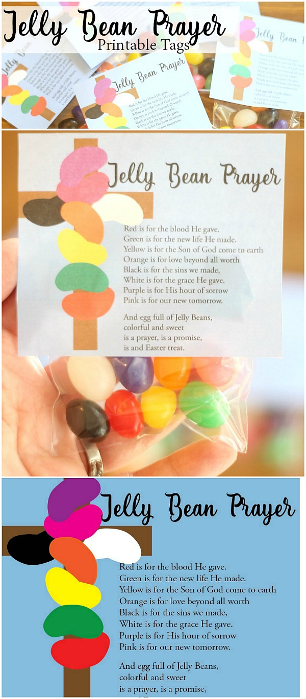 Jelly Bean Prayer--Free Printable Tags for Easter