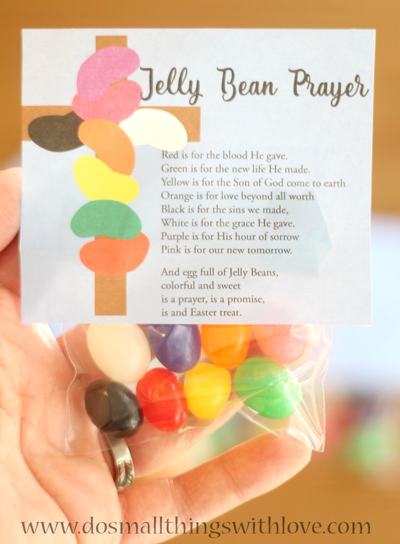 jelly bean prayer tags for easter