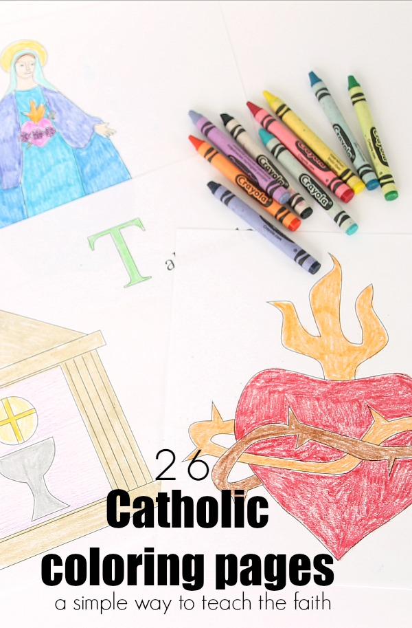 26 Catholic Coloring Pages Ready to Print and Use