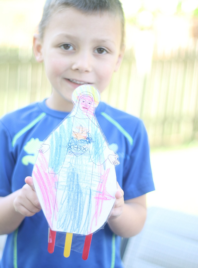 A Child's Mary Garden Finished Statue