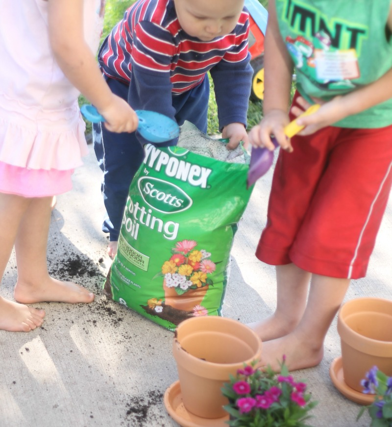 A Child's Mary Garden Planting