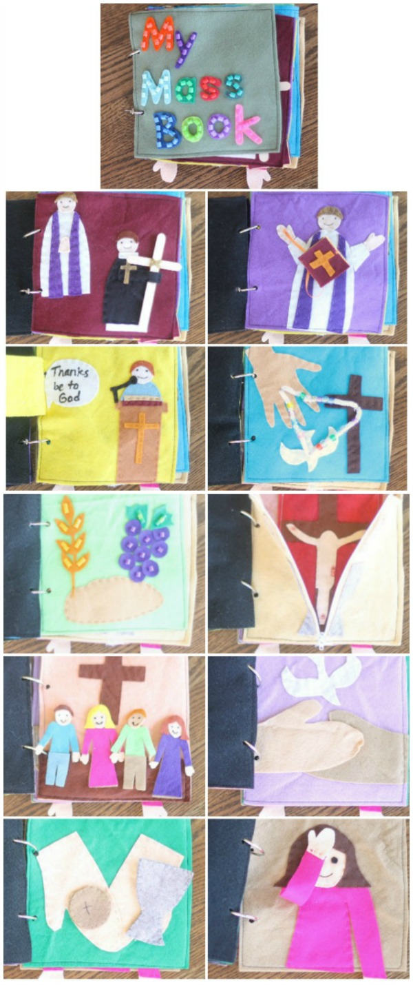 Create your own MASS QUIET BOOK with this complete pattern and instructions. Meaningful, quiet play at church!