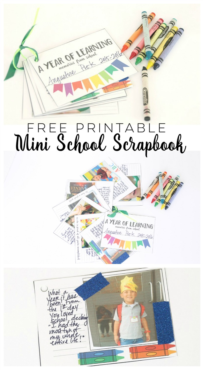 Free Printable Mini School Scrapbook