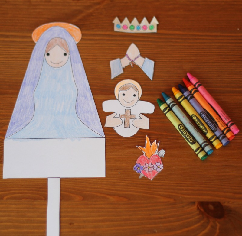 Mary paper doll
