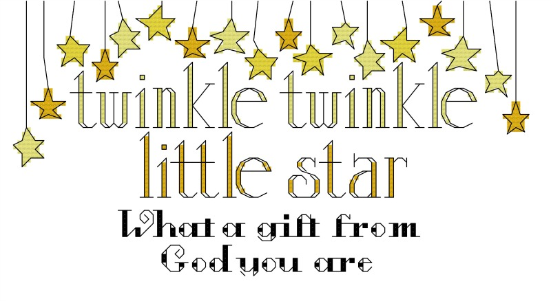 Twinkle Baby cross stitch pattern