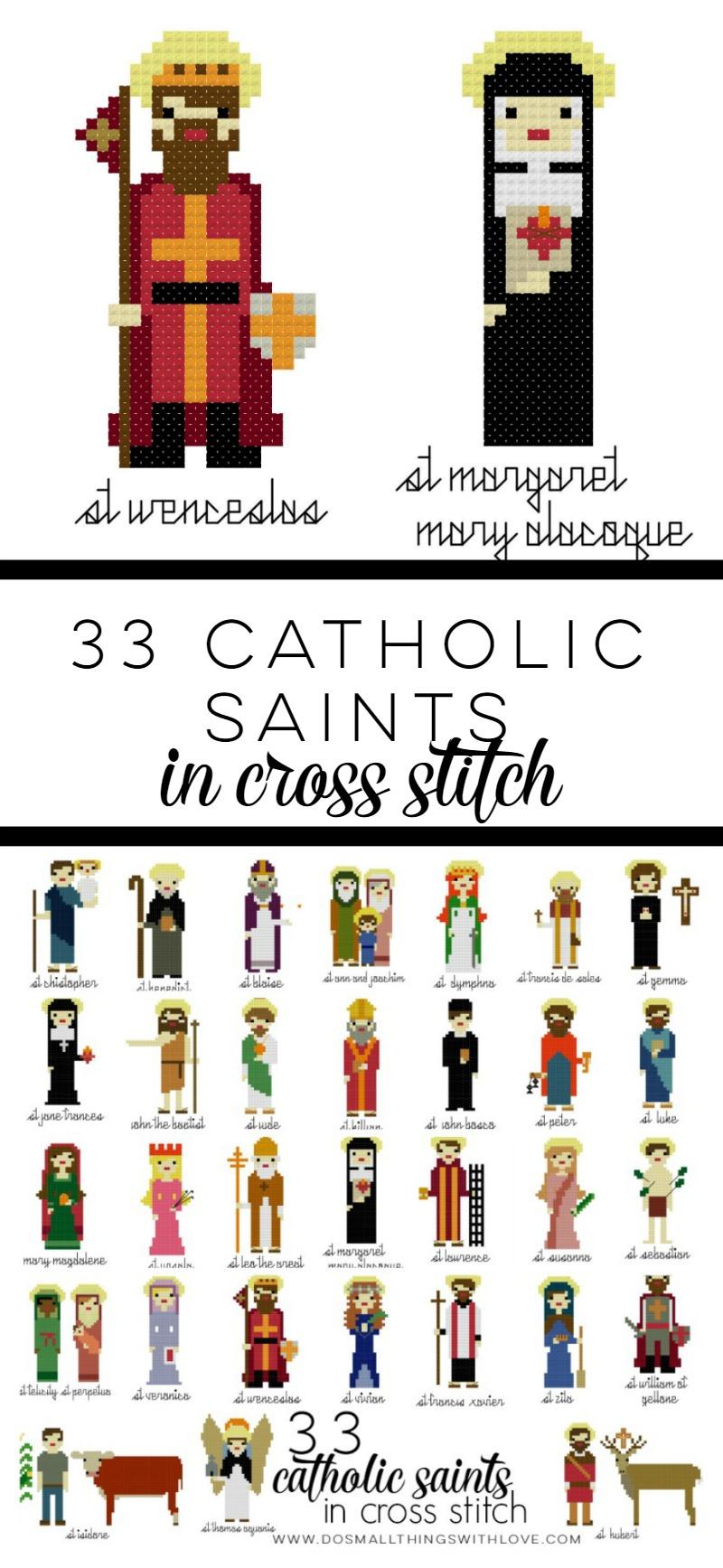 33 Catholic Saint Cross Stitch Patterns
