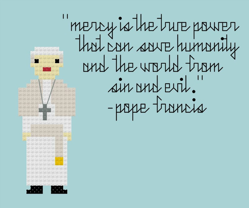 Pope Francis, Year of Mercy blue