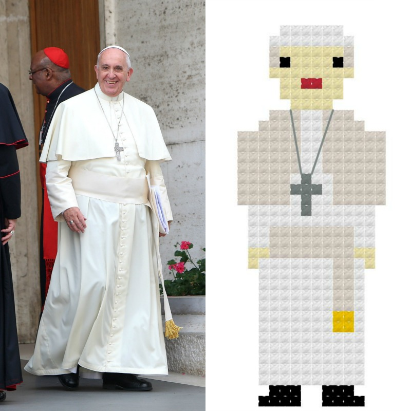 Pope Francis in Cross Stitch