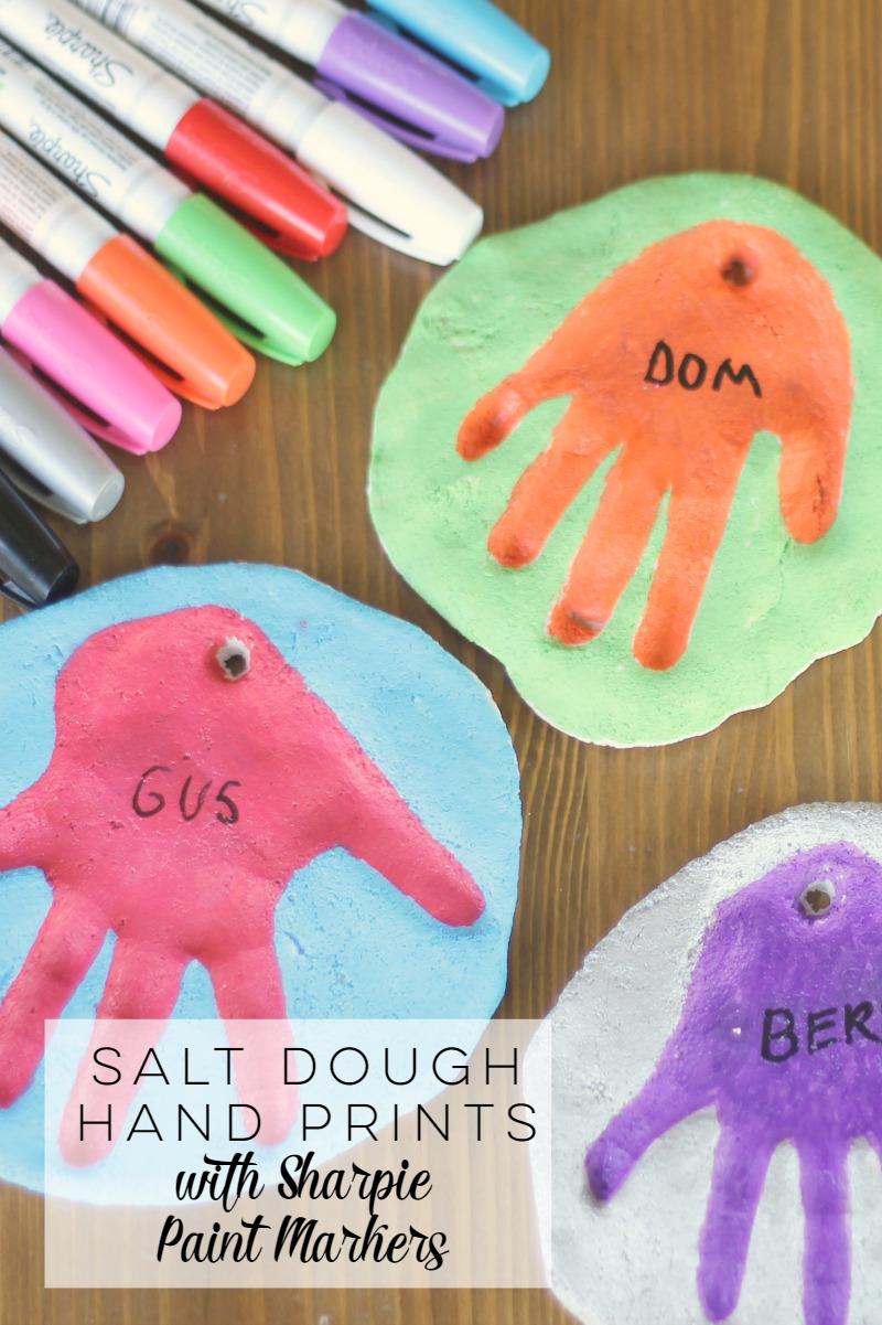 Salt Dough Hand Print Tutorial with Sharpie Paint Markers