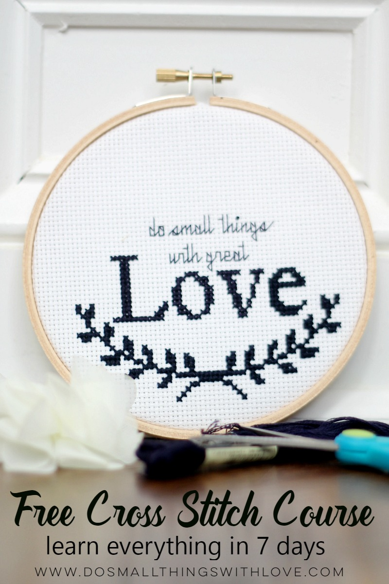 learn how to cross stitch with this free email course!