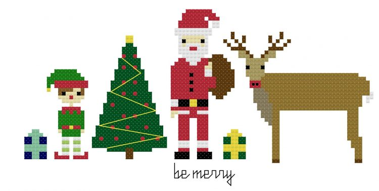 pixel-people-christmas