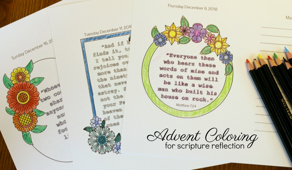 Advent Coloring for Scripture Reflection